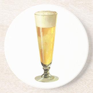 Vintage Tall Frosty Draft Beer, Alcohol Beverage Beverage Coaster