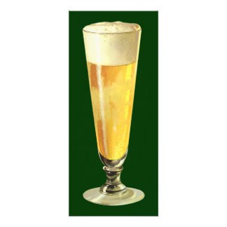 Vintage Tall Frosty Draft Beer Alcohol Beverage Personalized Invitations