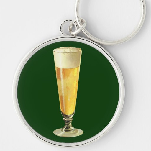 Vintage Tall Frosty Draft Beer, Alcohol Beverage Key Chains