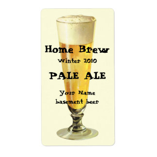 Vintage Tall Frosty Draft Beer Alcohol Beverage Shipping Labels