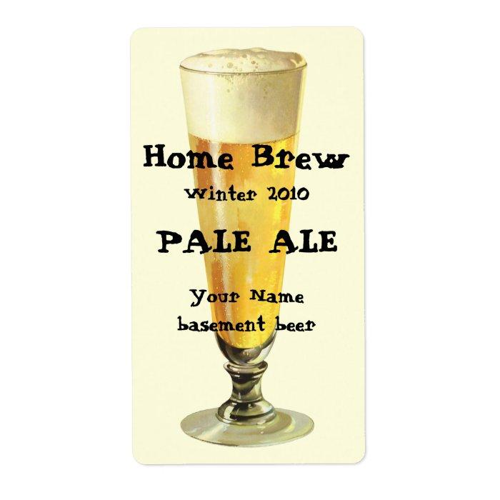 Vintage Tall Frosty Draft Beer, Alcohol Beverage Label