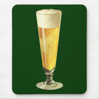 Vintage Tall Frosty Draft Beer, Alcohol Beverage Mouse Pad