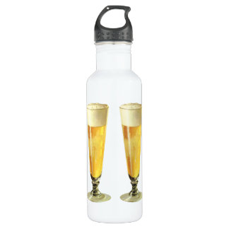 Vintage Tall Frosty Draft Beer, Alcohol Beverage Stainless Steel Water Bottle