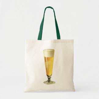 Vintage Tall Frosty Draft Beer, Alcohol Beverage Tote Bag