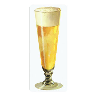 Vintage Tall Frosty Draft Beer, Bachelor Party Card