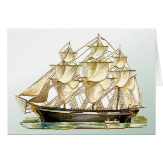 Vintage Tall Ship Father's Day Card