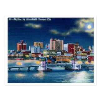 Vintage Tampa Florida Skyline Postcard