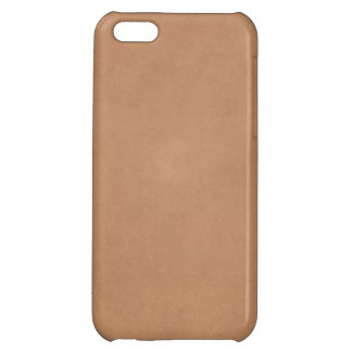 Vintage Tan Leather Brown Light Parchment Paper Case For iPhone 5C