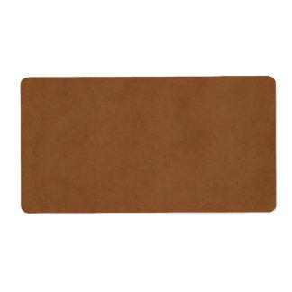 Vintage Tan Leather Brown Parchment Paper Blank Label