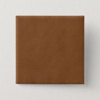 Vintage Tan Leather Brown Parchment Paper Blank Pinback Button