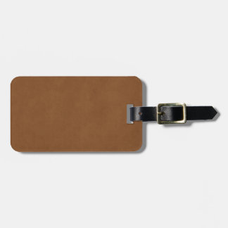 Vintage Tan Leather Brown Parchment Paper Blank Tag For Luggage