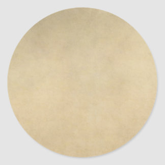 Vintage Tan Paper Parchment Background Template Round Stickers