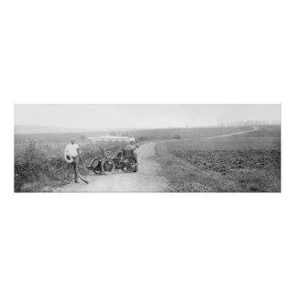 Vintage tandem 3-wheeler photo print