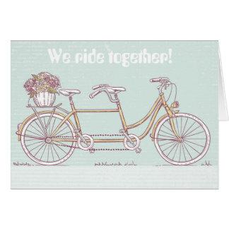 Vintage Tandem Bicycle Card