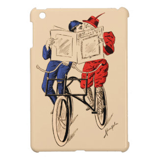 Vintage Tandem Bicycle Couple Reading Kissing Case For The iPad Mini