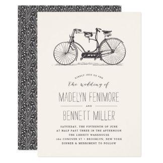 Vintage Tandem Bicycle Wedding Invitation