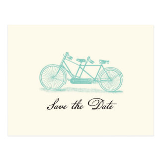 Vintage Tandem Bike Save the Date Postcard