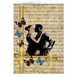 Vintage tango greeting card