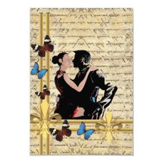 Vintage tango 3.5x5 paper invitation card