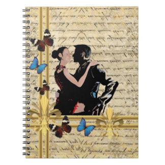 Vintage tango notebooks