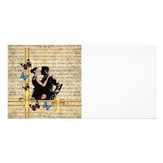 Vintage tango photo card