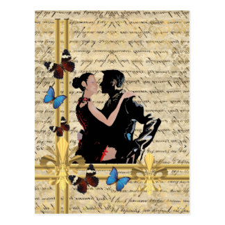 Vintage tango postcard