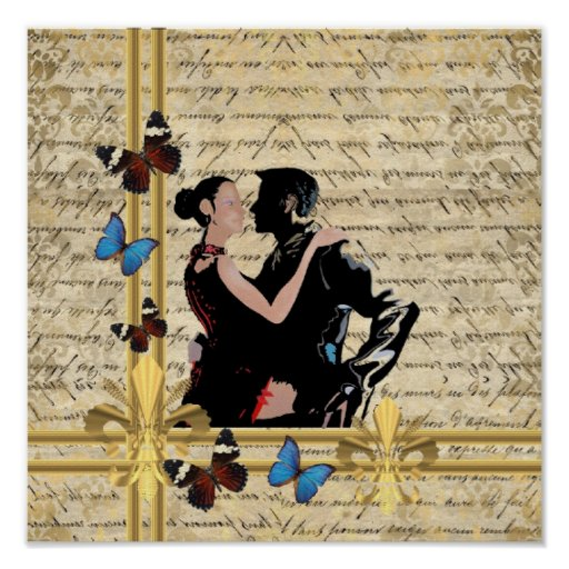 Vintage tango poster