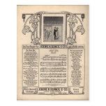 Vintage Tango Sheet Music Post Cards