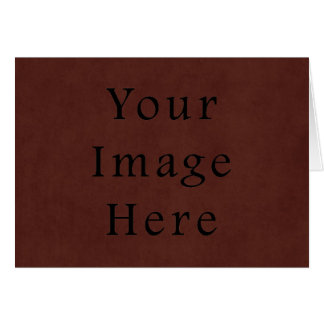 Vintage Tanned Brown Mahogany Leather Parchment Card