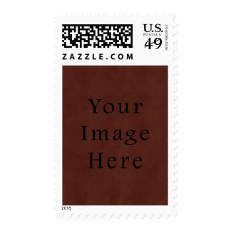Vintage Tanned Brown Mahogany Leather Parchment Postage Stamp