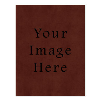 Vintage Tanned Brown Mahogany Leather Parchment Postcard