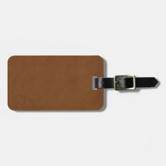 Vintage Tanned Leather Brown Parchment Template Bag Tag