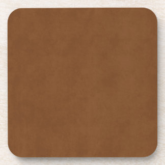 Vintage Tanned Leather Brown Parchment Template Drink Coasters
