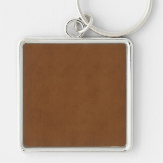 Vintage Tanned Leather Brown Parchment Template Keychain