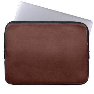 Vintage Tanned Leather Dark Brown Parchment Paper Laptop Sleeve