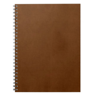Vintage Tanned Leather Med Brown Parchment Paper Notebook