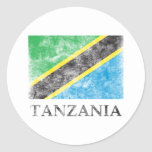 Vintage Tanzania Pegatina Redonda