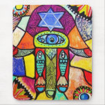 Vintage Tapastry Hamsa Mouse Pad