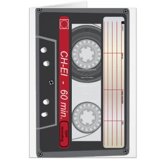 Vintage Tape Card