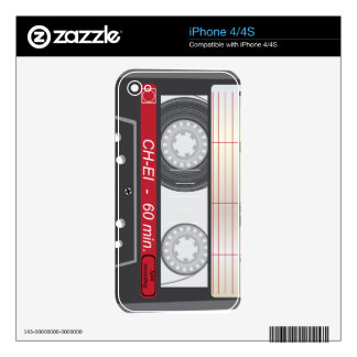 Vintage Tape Skins For The iPhone 4