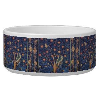 Vintage Tapestry Birds Floral Design Woodpecker Bowl