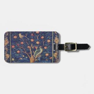 Vintage Tapestry Birds Floral Design Woodpecker Tag For Bags