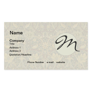 Vintage Tapestry Floral Fabric Pattern Double-Sided Standard Business Cards (Pack Of 100)