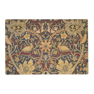 Vintage Tapestry Floral Fabric Pattern Placemat