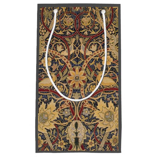 Vintage Tapestry Floral Fabric Pattern Small Gift Bag Zazzle