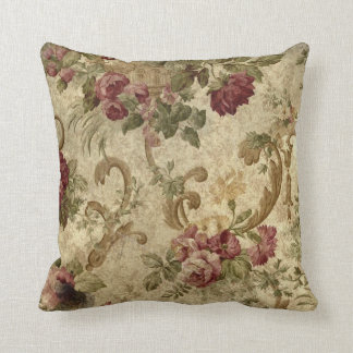 Vintage Tapestry mauve beige green pillow