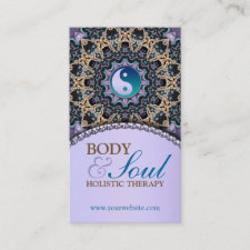 Vintage Tapestry New Age Holistic Business Card