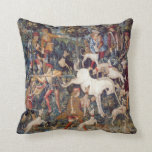 Vintage Tapestry Print Hunting Unicorn Pillow