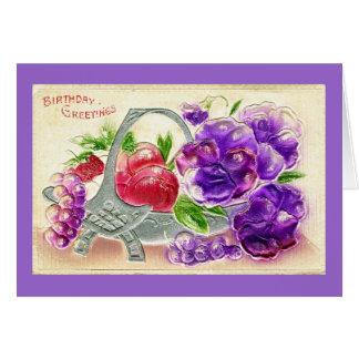 Vintage tarjeta de felicitación de 1910 cumpleaños
