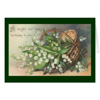 Vintage - tarjeta de felicitación del feliz